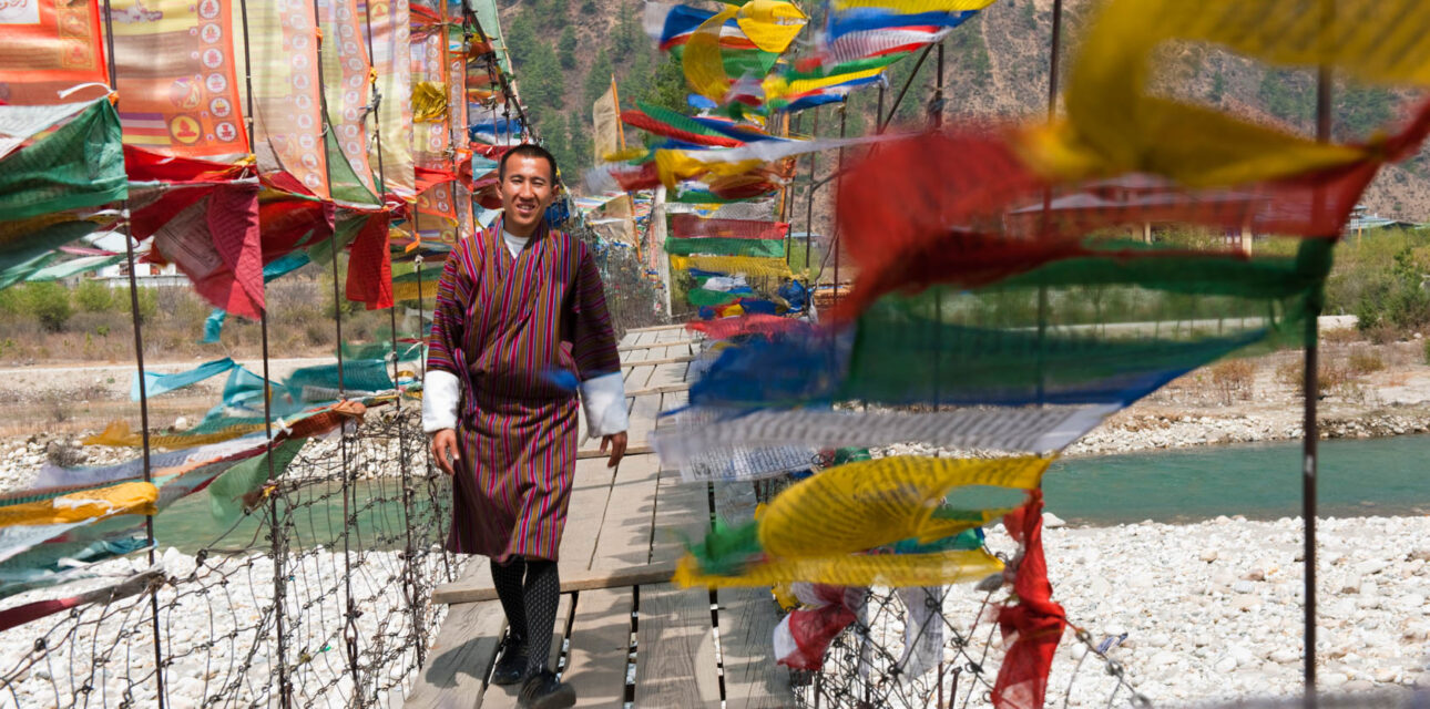 A man with cloth in Asia.