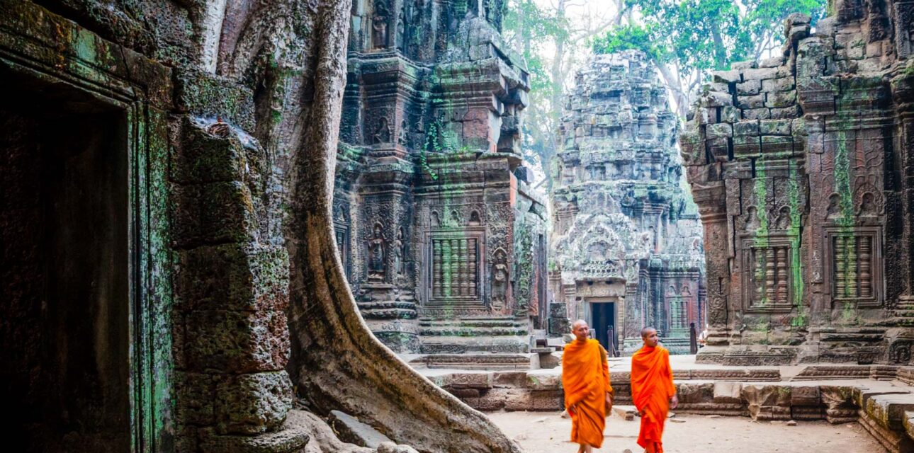 Monks in Asia.