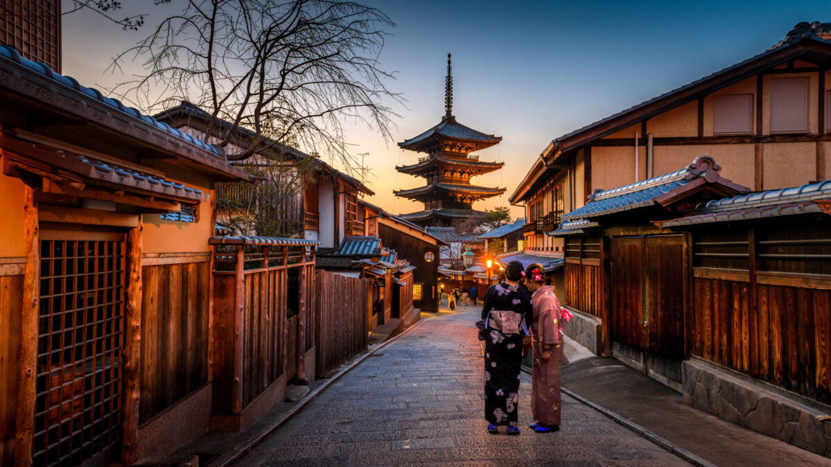 A couple in Asia.