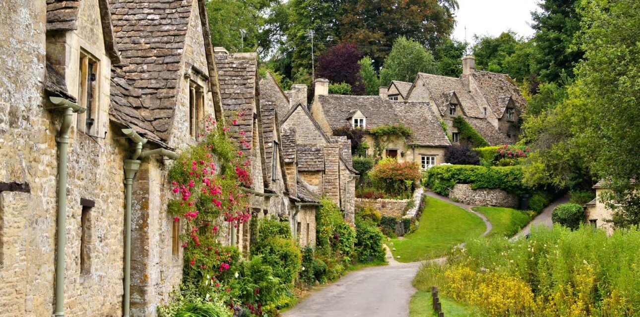 Cottages in a village in the UK.