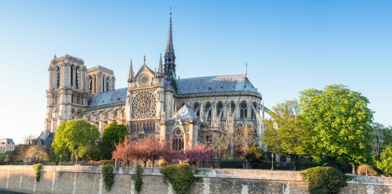 The notre dame in Paris.