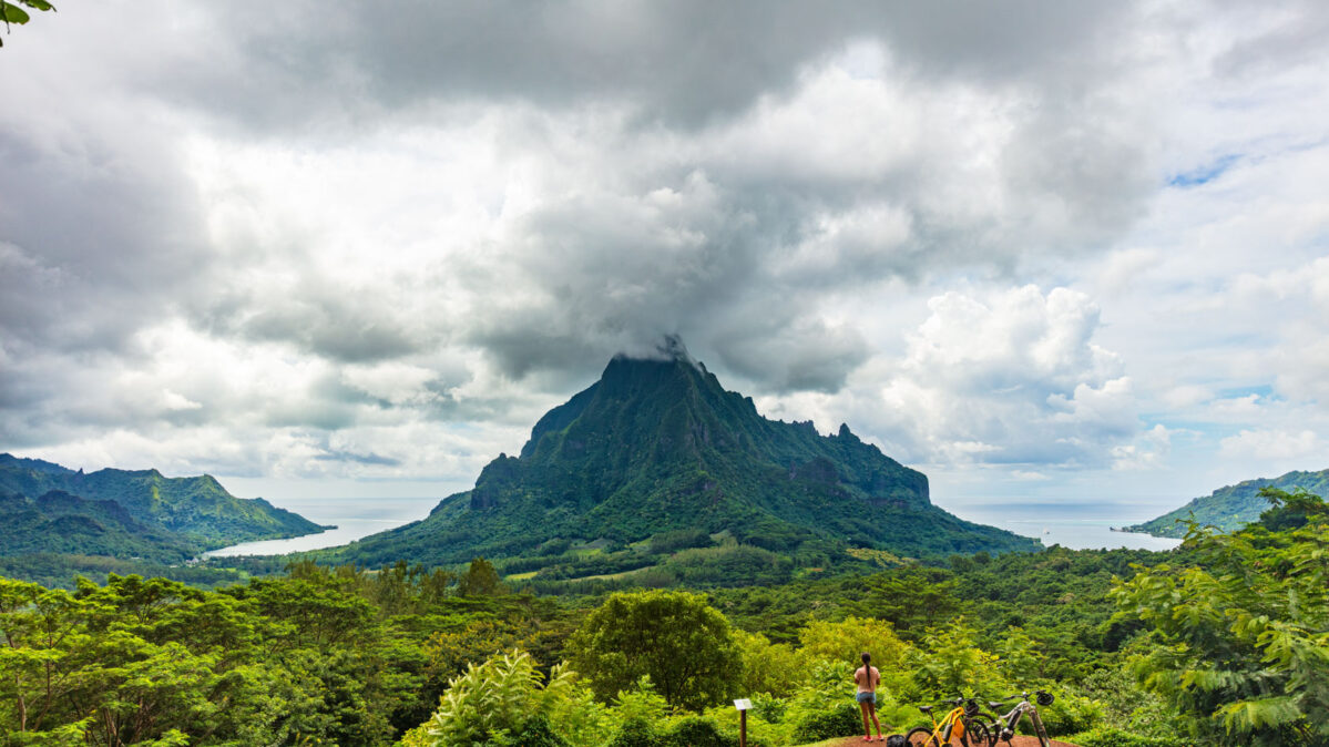 A mountain in the South Pacific.