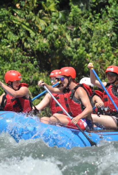 White water rafting in Costa Rica.