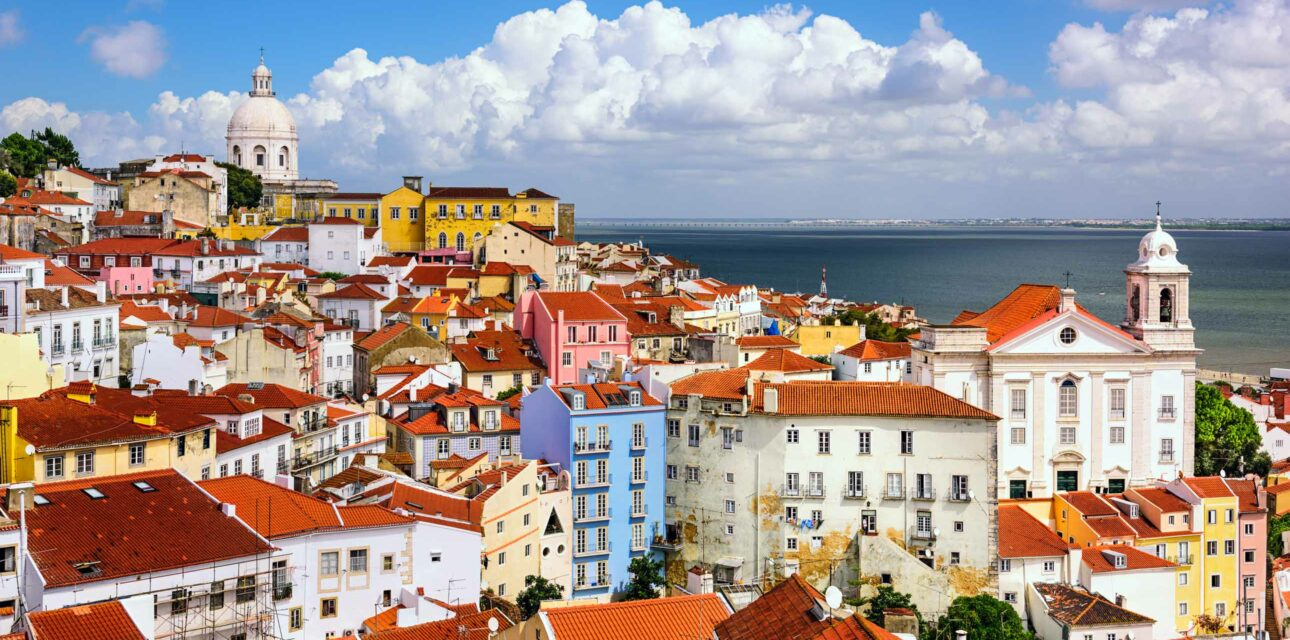 A city landscape in Portugal.