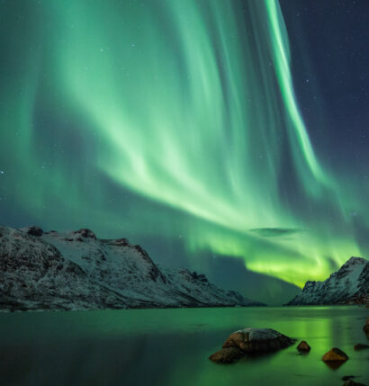 The northern lights .