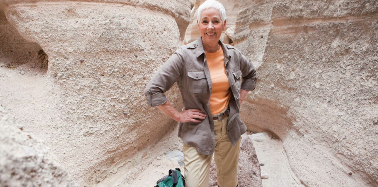 A woman in the grand canyon.