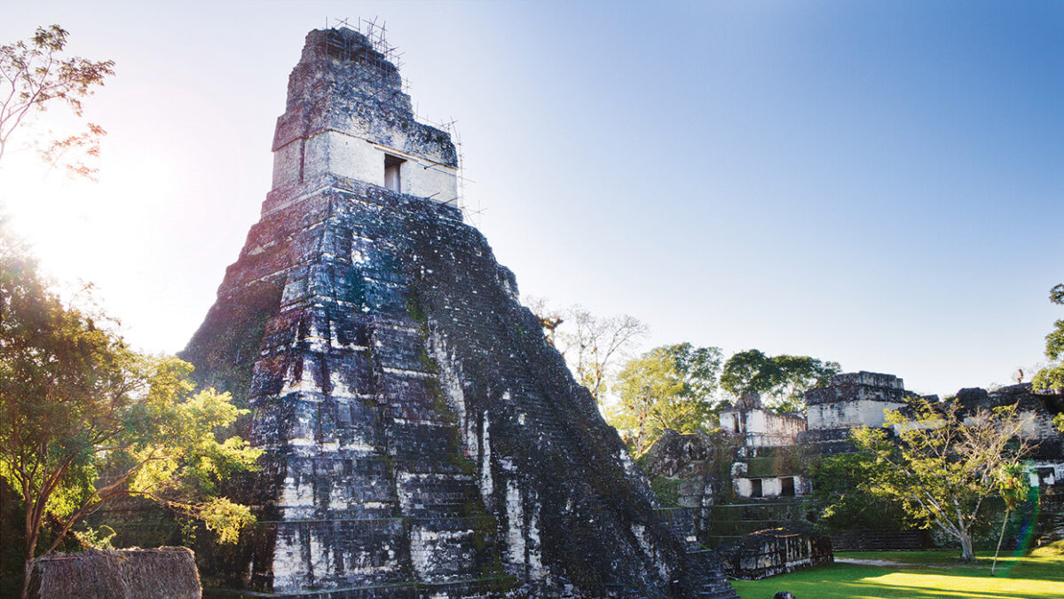 An ancient temple in Latin America.