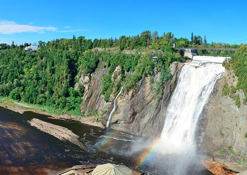 Canada Quebec Charlevoix Waterfall