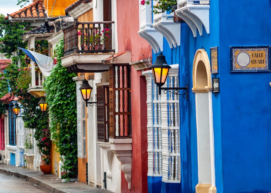 Colombia colorful town