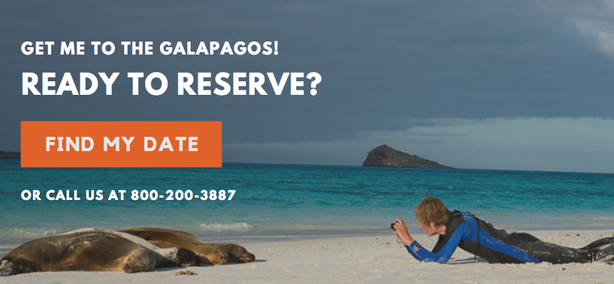 Ready to reserve Galapagos vacation