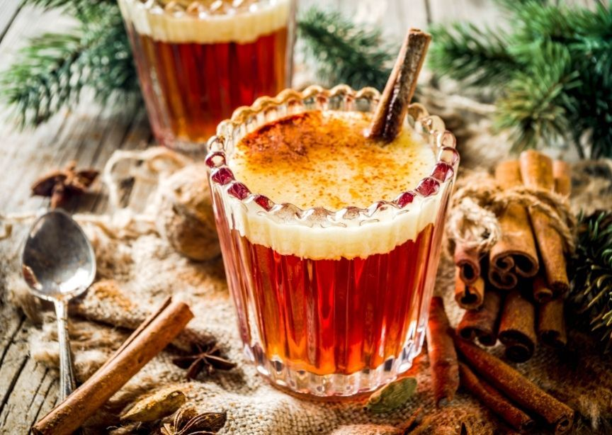 USA Maine Handmade Hot Buttered Rum in Clear Glass
