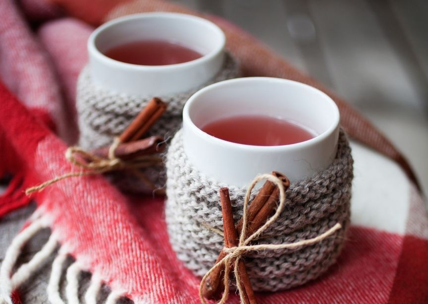 Canada Candian Caribou Winter Cocktails on Red Blanket