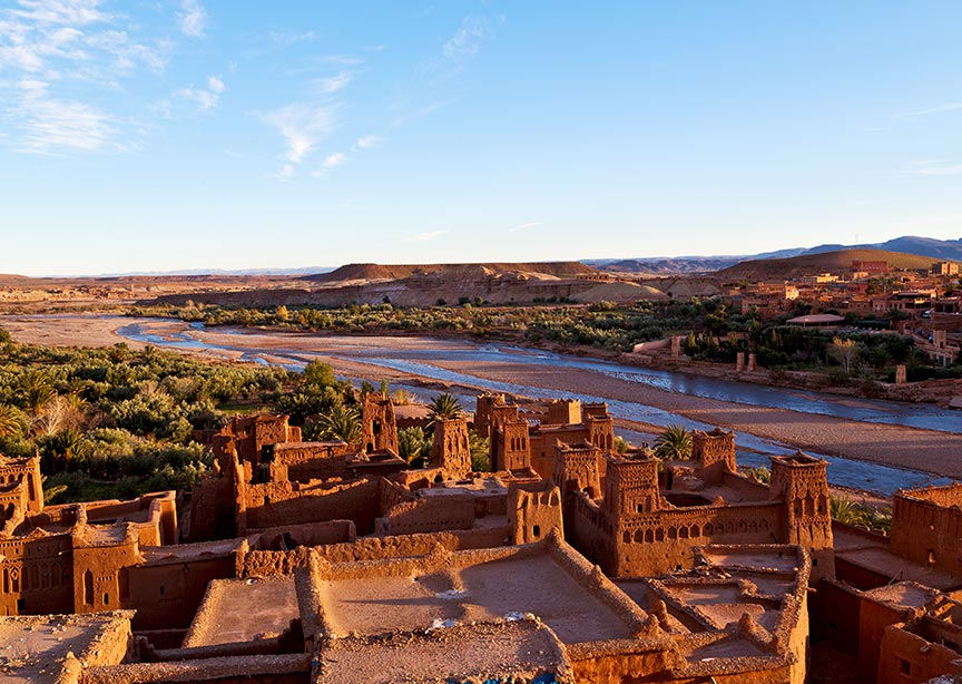 Morocco ancient clay town
