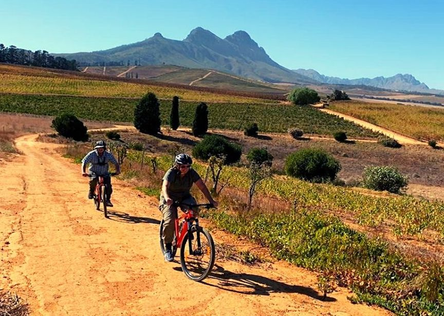 Classic Journeys South Africa Luxury Tour Guests Bike Ride