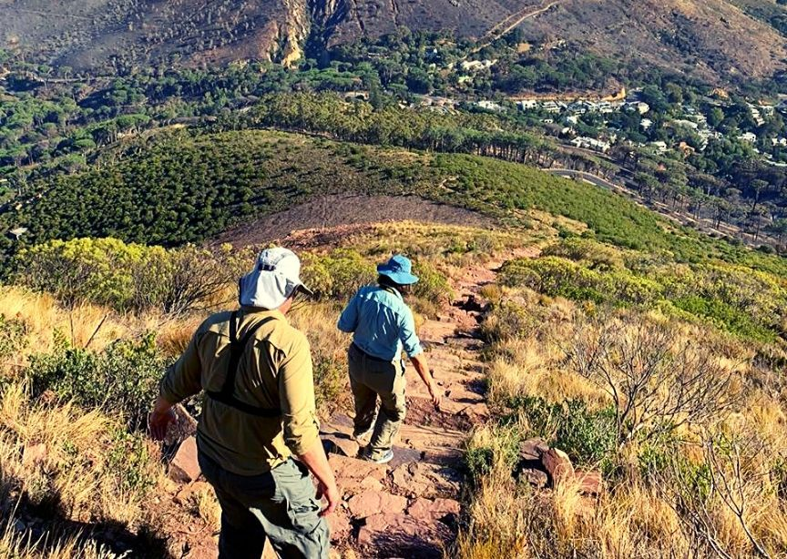 Classic Journeys Guests Walking Landscape South Africa