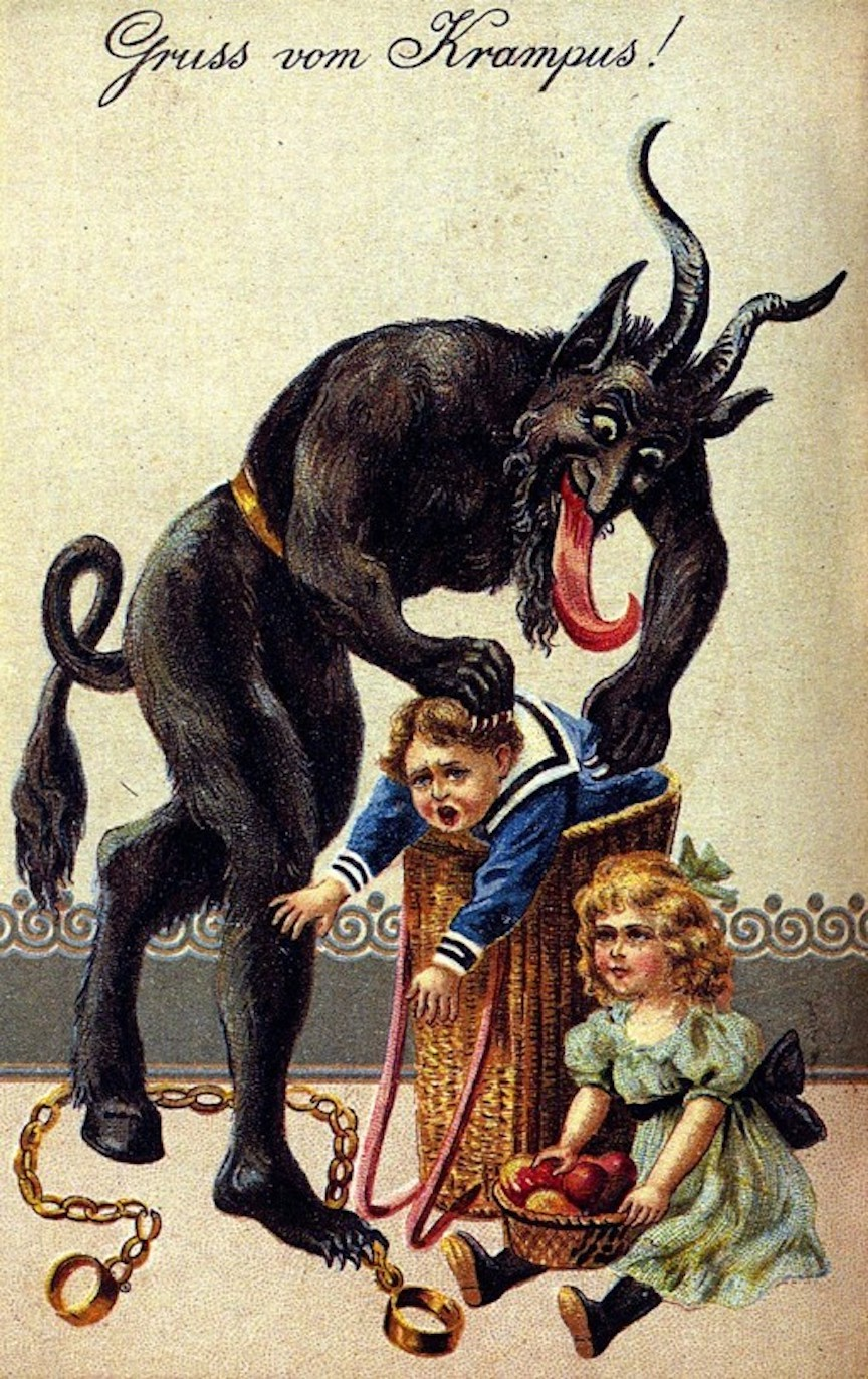 Austria Alps Traditional Krampus Holiday Card Unknown Owner WikiCommons