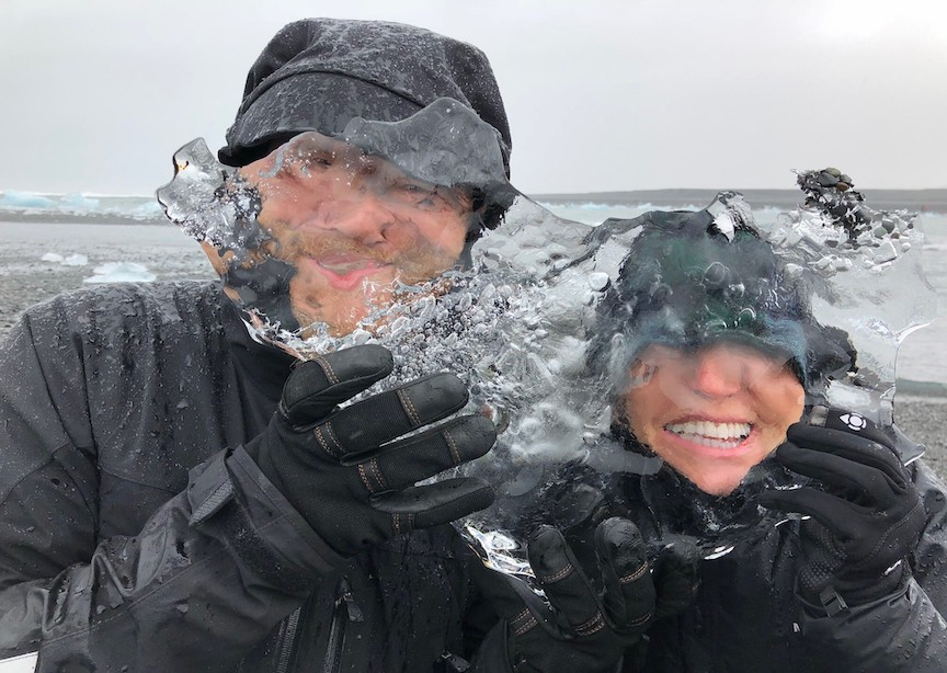 Iceland ice Susie Piegza and guide